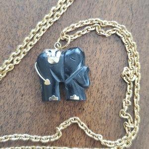 Cute vintage elephant pendant